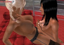 Shemale sex game with lesbians of 3D SexVilla game