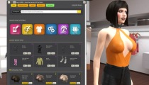 Young busty girl body setup customization