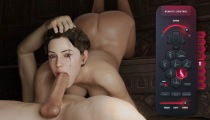 Big balls and dick swallowed in SexWorld3D game